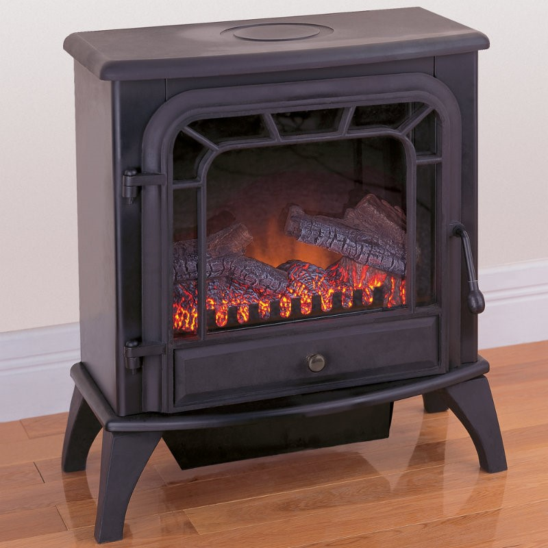 ProCom Electric Stove Fireplace - Black Finish