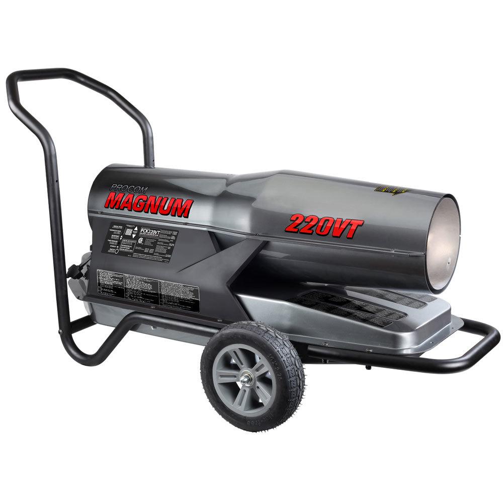 ProCom Recon Kerosene Forced Air Heater - 160,000-220,000 BTU, Multifuel