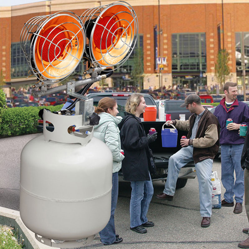 Heat Up Your Tailgate With A Tank Top Propane Heater