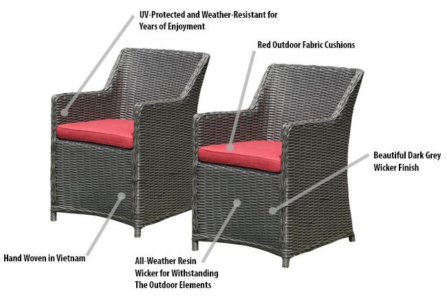 Patio Lounge Chair Features: