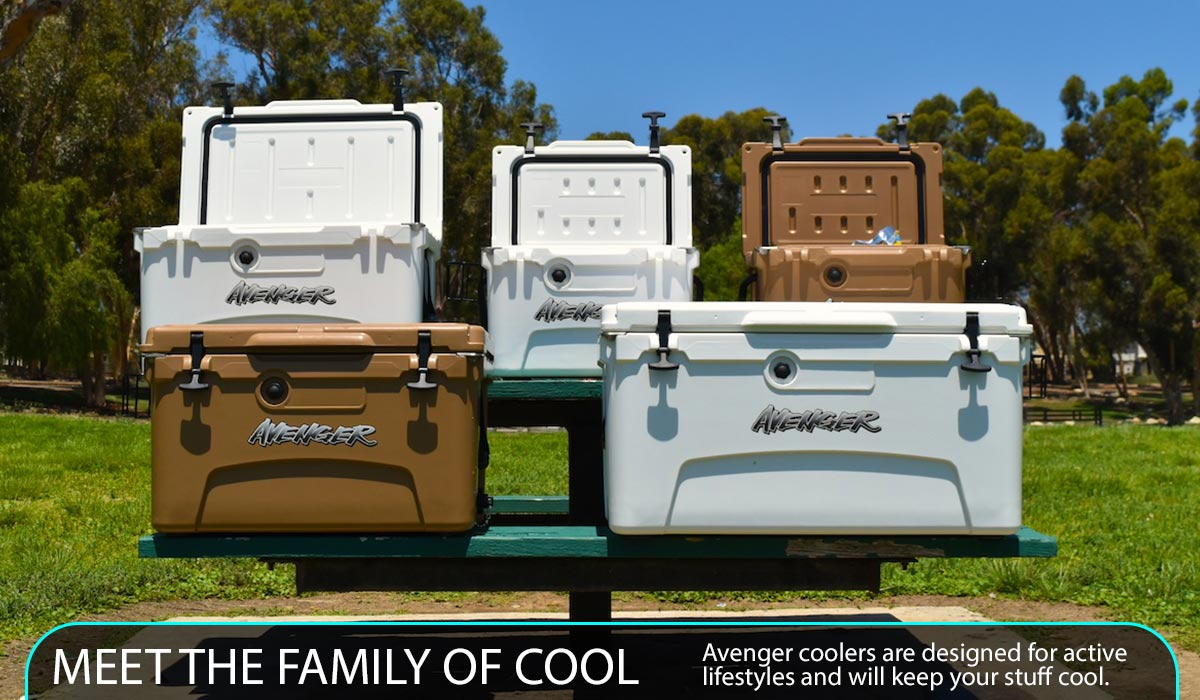 Avenger coolers are designed for active lifestyles and will keep your stuff cool.