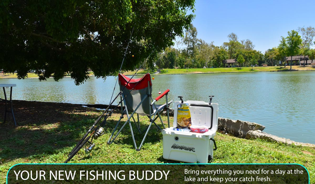 Bring everything you need for a day at the lake and keep your catch fresh.