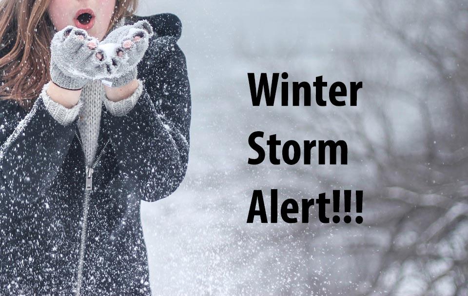 Winter storm alert!