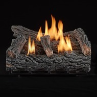Duluth Forge Ventless Natural Gas Log Set - 21 in. Winter Oak, 32,000 BTU, Manual Control
