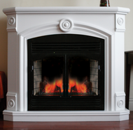 Full Size Deluxe Electric Fireplace With Remote Control - White Finish, Model# SFE32RE1-W
