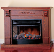 Deluxe Full Size Electric Fireplace With Remote Control - Dark Oak Finish, Model# SFE33RE-DO