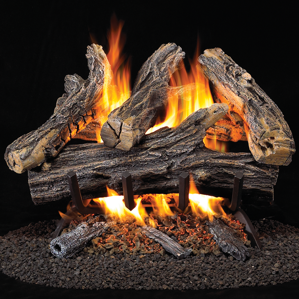 ProCom Vented Natural Gas Fireplace Log Set, #WAN18N-2 - Gas Log , Gas Log Sets, Fireplace Log Sets - Factory Buys Direct