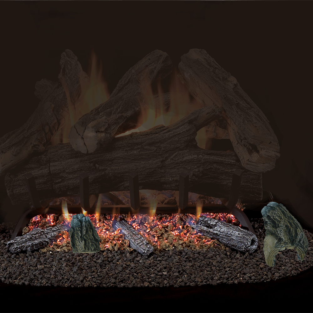 procom vented natural gas fireplace log set 18 in 35 000 btu