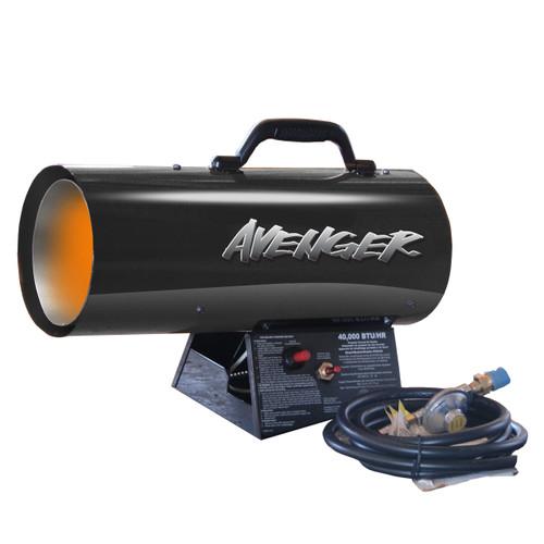 Avenger Portable Forced Air Propane Heater - 40,000 BTU