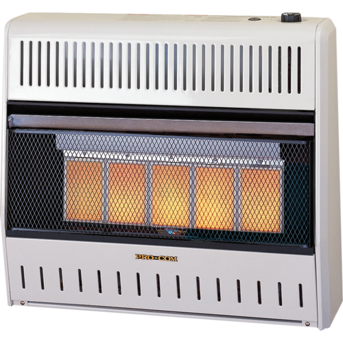 ProCom Reconditioned Dual Fuel Vent-Free Infrared Heater - 30,000 BTU, Model# MN300TPA