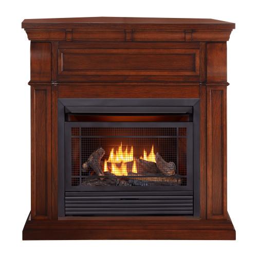 Duluth Forge Dual Fuel Ventless Gas Fireplace - 26,000 BTU, Remote Control, Chestnut Oak Finish