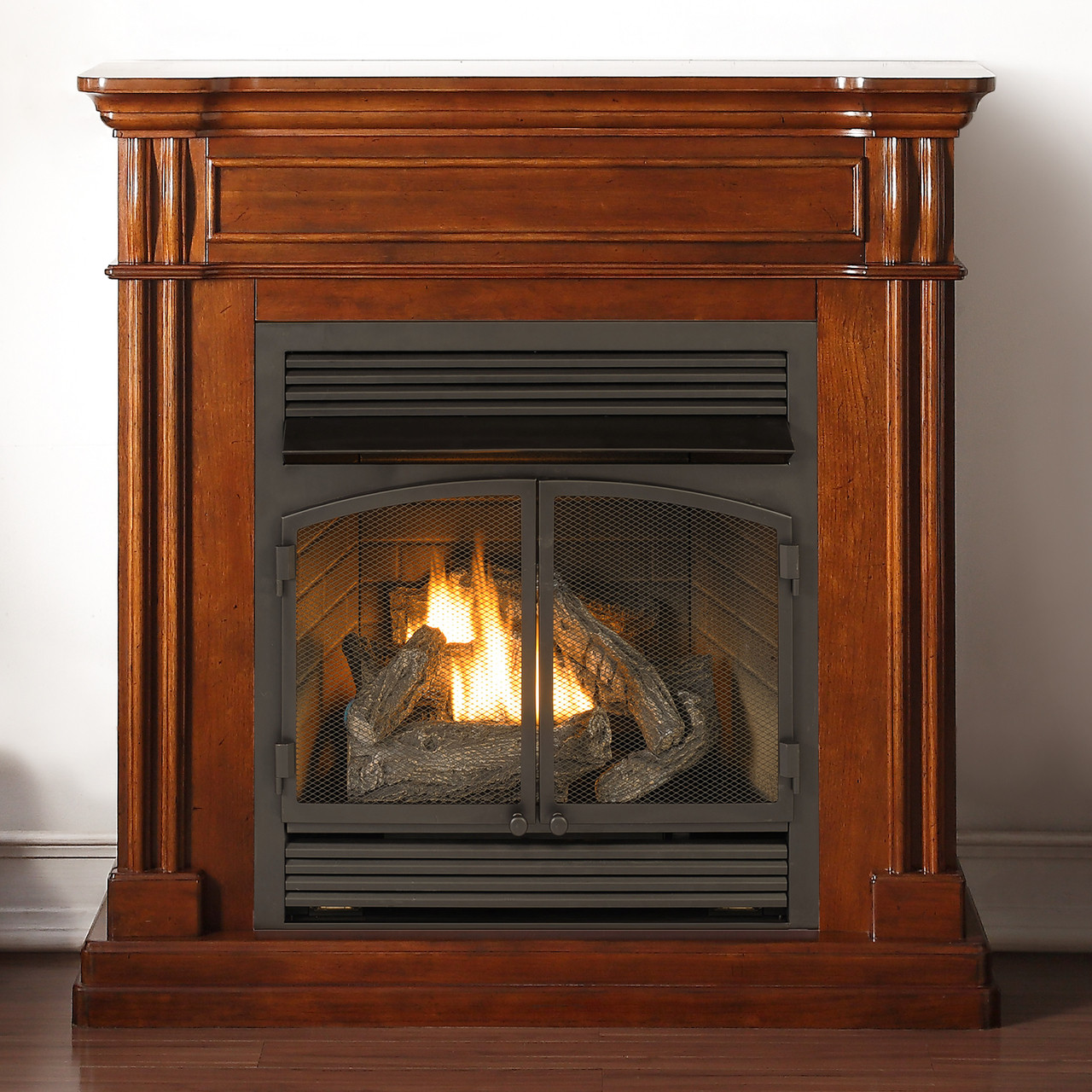 Super Duluth Forge Dual Fuel Ventless Fireplace 32 000 Btu Remote Control Autumn Spice Finish Beutiful Home Inspiration Truamahrainfo