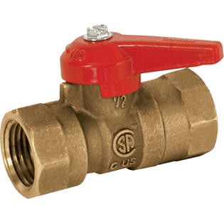 01-2808 1/2 Inch Gas Brass Shut Off Valve - USD Products
