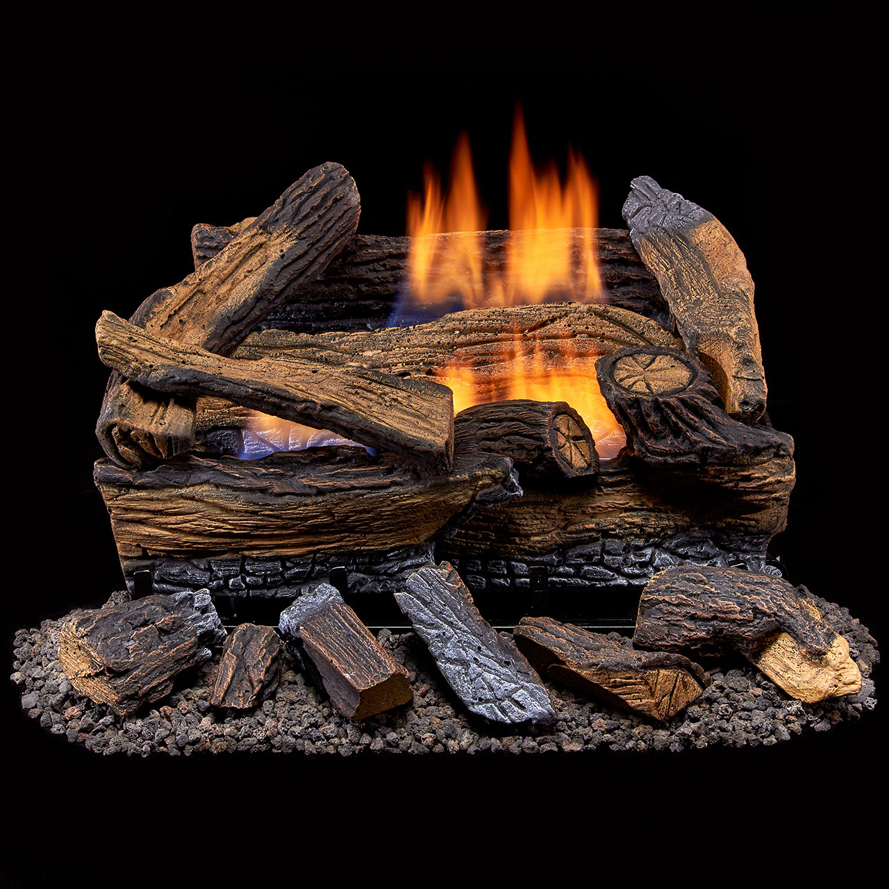 Duluth Forge Ventless Dual Fuel Gas Log Set 18 In Split Red Oak