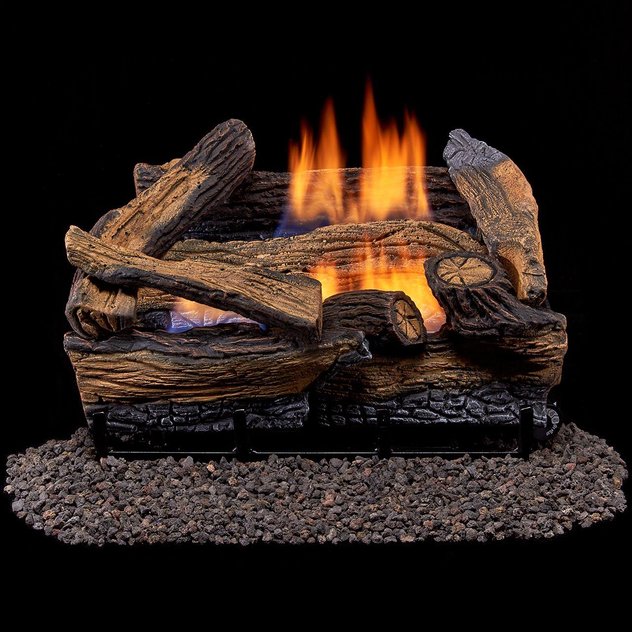 monessen riverwood driftwood ventfree gas log set vent free gas