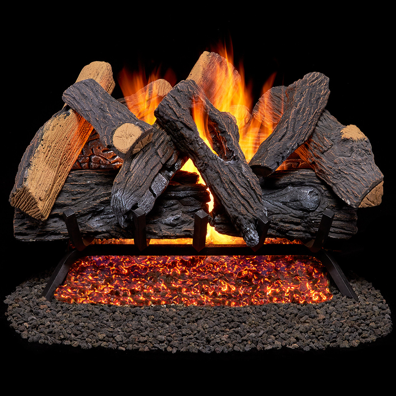 duluth forge vented natural gas fireplace log set 18 in 45 000