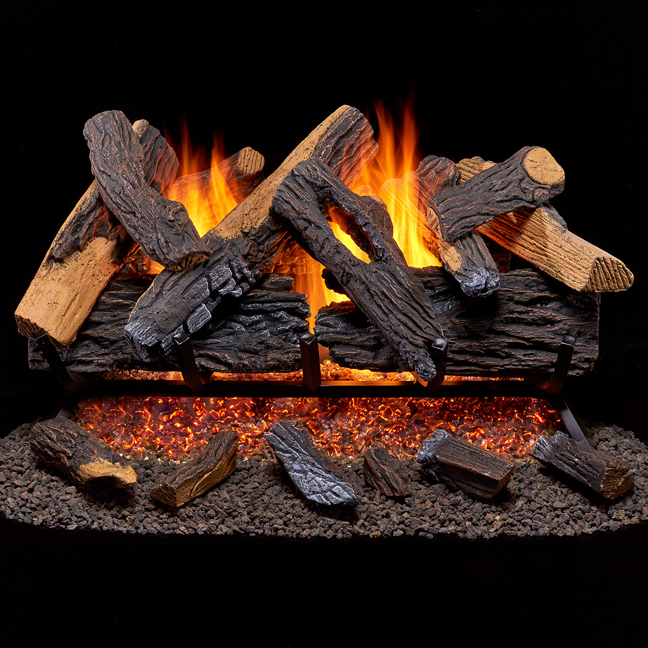 Duluth Forge Vented Natural Gas Fireplace Log Set 30 In 65000