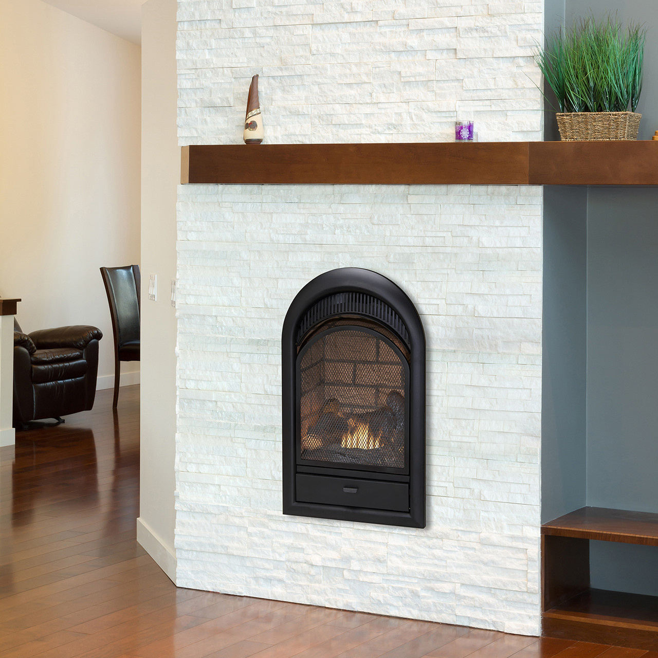 Duluth Forge Dual Fuel Ventless Fireplace Insert - 32,000 BTU ...