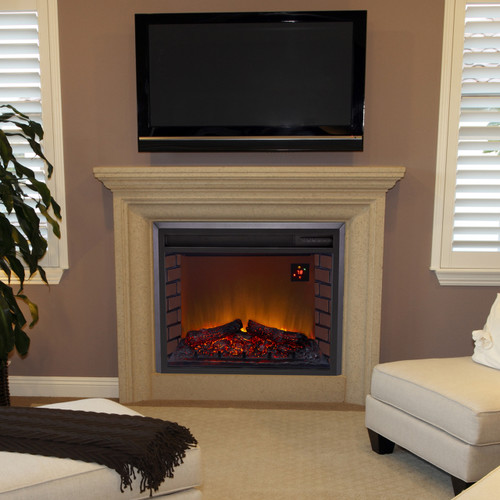 Duluth Forge Electric Fireplace Insert In Living Room  Electric Fireplace Insert