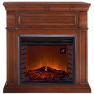 Duluth Forge Full Size Electric Fireplace Chestnut Oak Finish