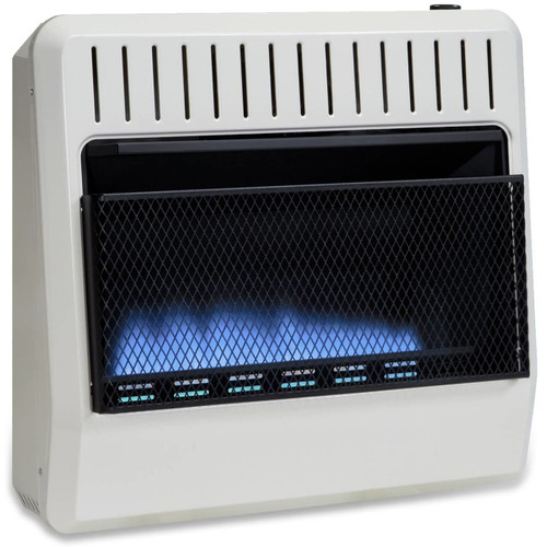 Avenger Dual Fuel Vent Free Blue Flame Heater with 30,000 BTU