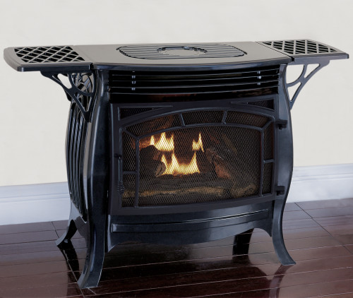 Duluth Forge Dual Fuel Ventless Gas Stove Gloss Finish