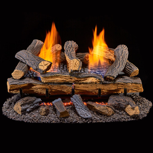 duluth forge vent free dual fuel gas log set with remote control - Ventless Gas Logs