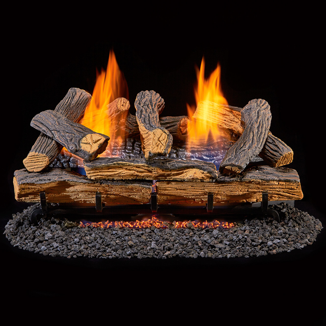 24 Inch Duluth Forge 210049 Dual Fuel Gas Log Set Oak