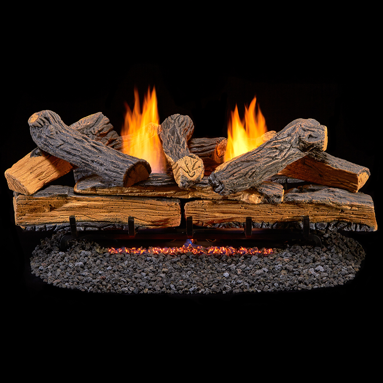 fireplace vent ebay logs set log emberglow free propane gas oakwood thermostat itm fire vented