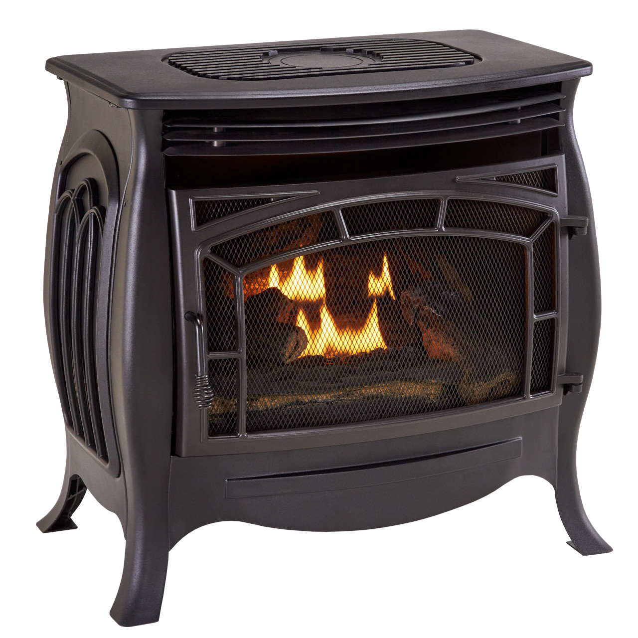 Duluth Forge Dual Fuel Ventless Gas Stove Model Fdsr25 Matte Finish Remote Control Factory Buys Direct