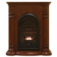HearthSense Dual Fuel Vent Free Gas Fireplace - 15,000 BTU, Classic Cherry