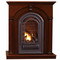 HearthSense Liquid Propane Vent Free Gas Fireplace- 20,000 BTU, Cherry Finish