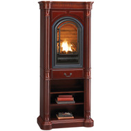 HearthSense Natural Gas Vent Free Gas Tower Fireplace- 20,000 BTU, Cherry Finish