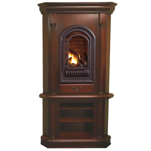 HearthSense Natural Gas Ventless Gas Tower Corner Fireplace ...