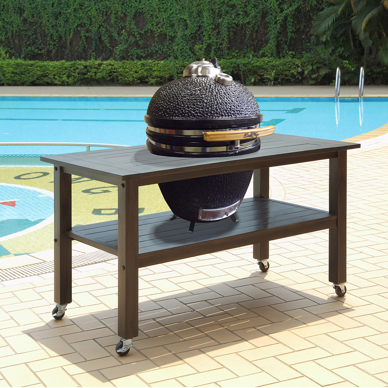 Betere Duluth Forge 21 Inch Kamado Grill With Table - Antique Grey XY-34