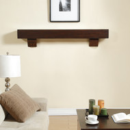 60 Inch Fireplace Shelf Mantel with Corbels by Duluth Forge