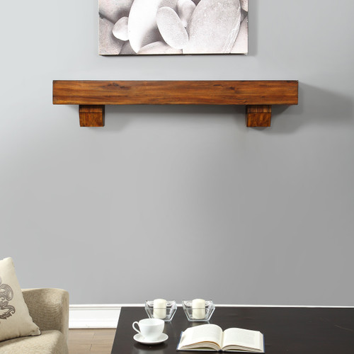 Duluth Forge 60 Inch Fireplace Mantel with Corbels