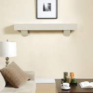 60 Inch Wood Shelf Mantel by Duluth Forge