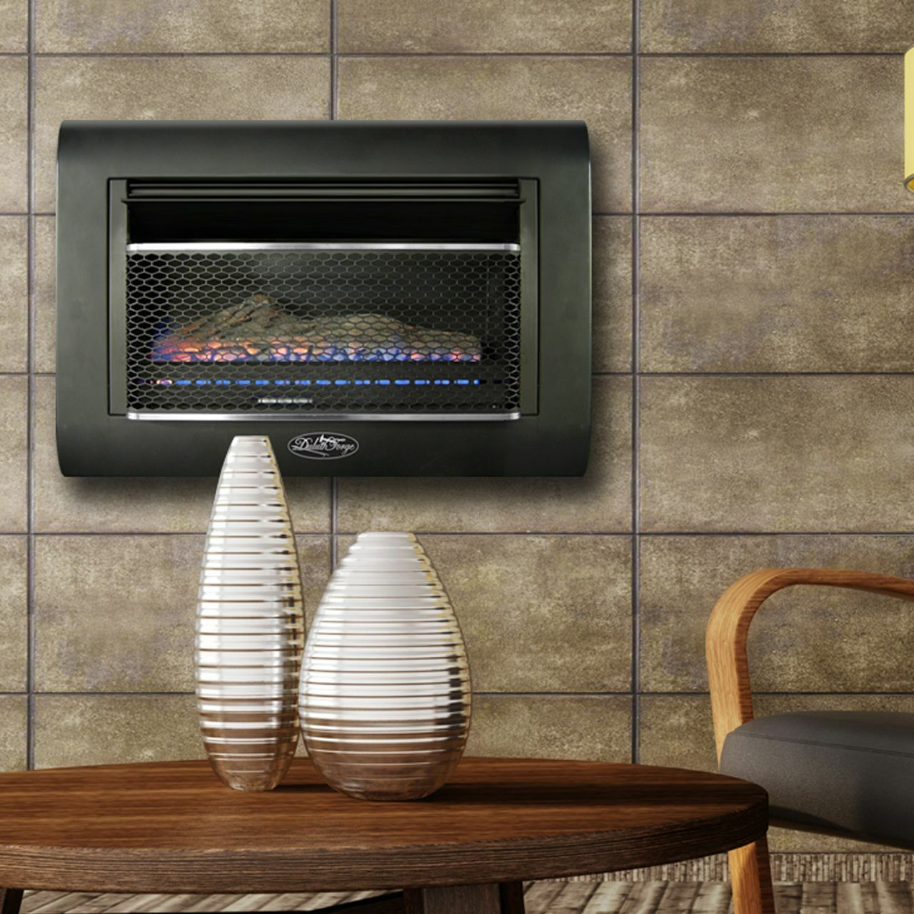 Duluth Forge Ventless Linear Wall Gas Fireplace 26 000 Btu T