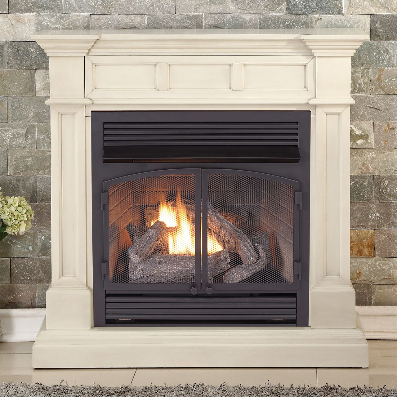 Duluth Forge Dual Fuel Ventless Gas Fireplace - 26,000 BTU, Remote ...