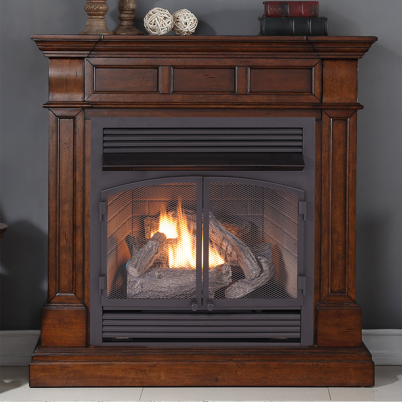 duluth forge dual fuel ventless gas fireplace 26 000 btu remote