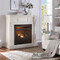Duluth Forge Full Size Dual Fuel Vent Free Fireplace at 32,000 BTU with Remote Control, Antique White Finish