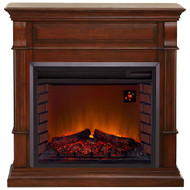 Duluth Forge Full Size Electric Fireplace with Remote Control in Auburn Cherry Finish
