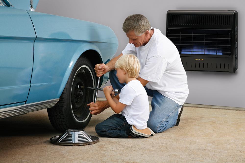 Procom Heating Dual Fuel Ventless Garage Heater 30 000 Btu Model Mnsd300tga