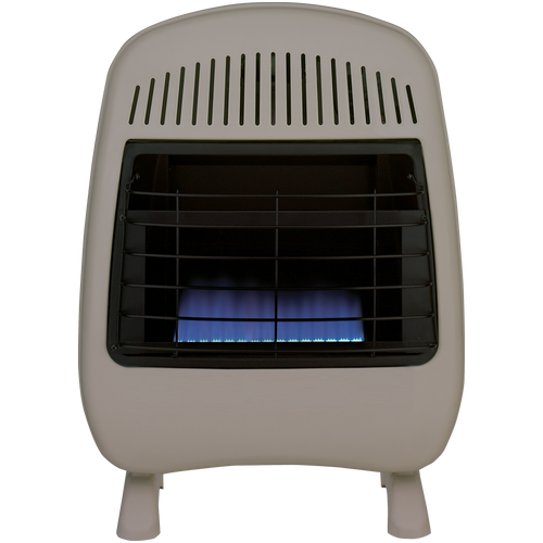 ProCom Reconditioned Dual Fuel Vent-Free Blue Flame Heater - 20,000 BTU, Model# MD200TBF