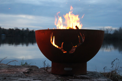 Image 1 - Fire Pit Art Antlers Fire Pit - Factory Buys Direct