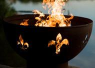 Fire Pit Art Fleur de Lis Fire Pit on fire