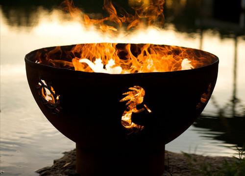 Fire Pit Art Kokopelli Fire Pit by the lake