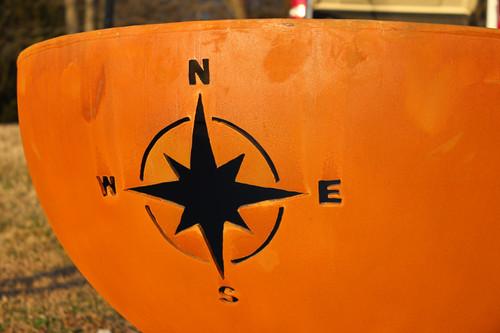 Fire Pit Art Navigator Fire Pit compass cutout