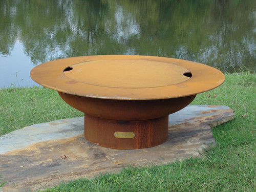 Fire Pit Art Magnum Outdoor Fire Pit with lid